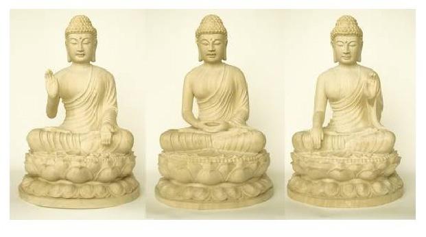 Tam Thế Phật: Ca Diếp Phật, Thích Ca Mâu Ni Phật, Di Lặc Phật