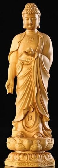 Tượng Phật kết Dữ Nguyện Ấn (Vara-mudrā:Thắng Diệu Ấn, Nguyện Vọng Ấn