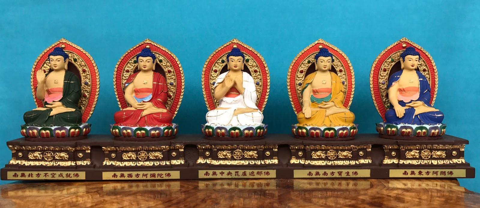 Ngũ Phương Phật theo Kim Cang Giới - according to Vajragarbha