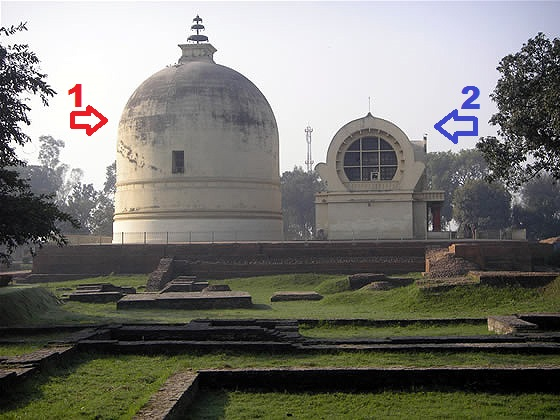 Tháp Niết Bàn - The Parinirvana Stupa [1] và Chùa Đại Bát Niết Bàn - The Mahaparinirvana Temple