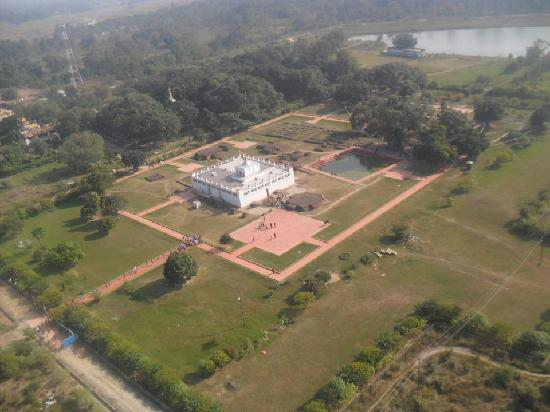 View of Lumbini garden - the birth place of the Buddha