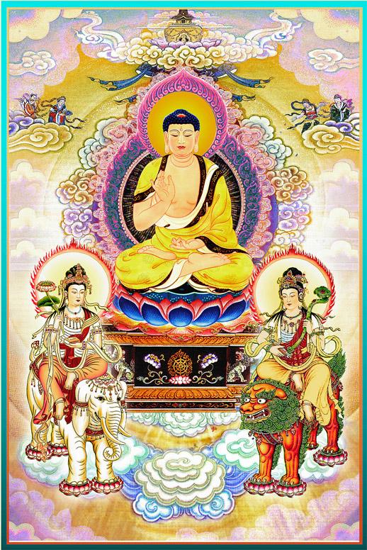 Tam Thánh Hoa Nghiêm: Phật Tỳ Lô Giá Na, Bồ tát Văn Thù, Bồ tát Phổ Hiền