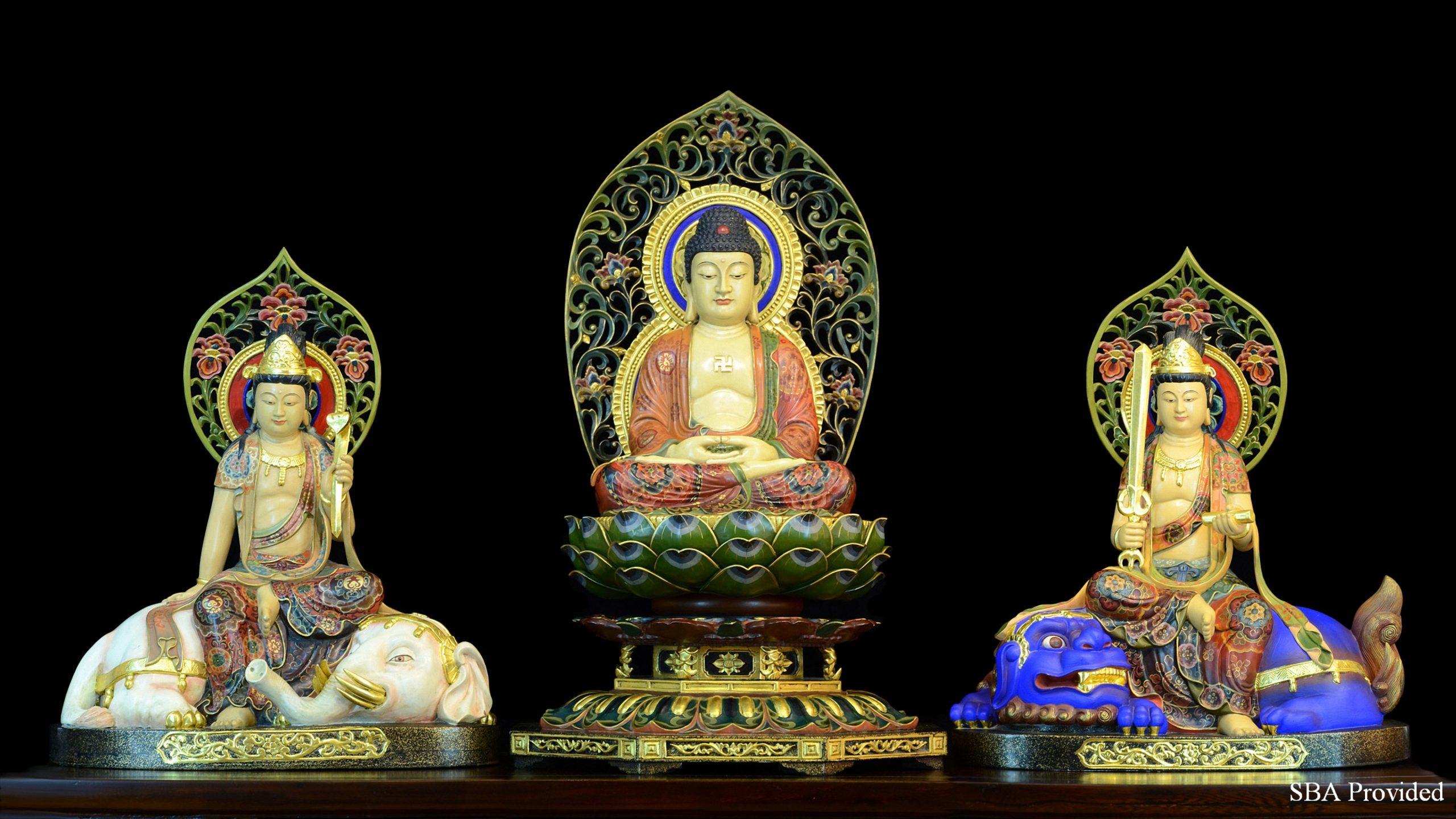 Tam Thánh Thích Ca (Phật Thích Ca, Bồ tát Văn Thù và Bồ tát Phổ Hiền)