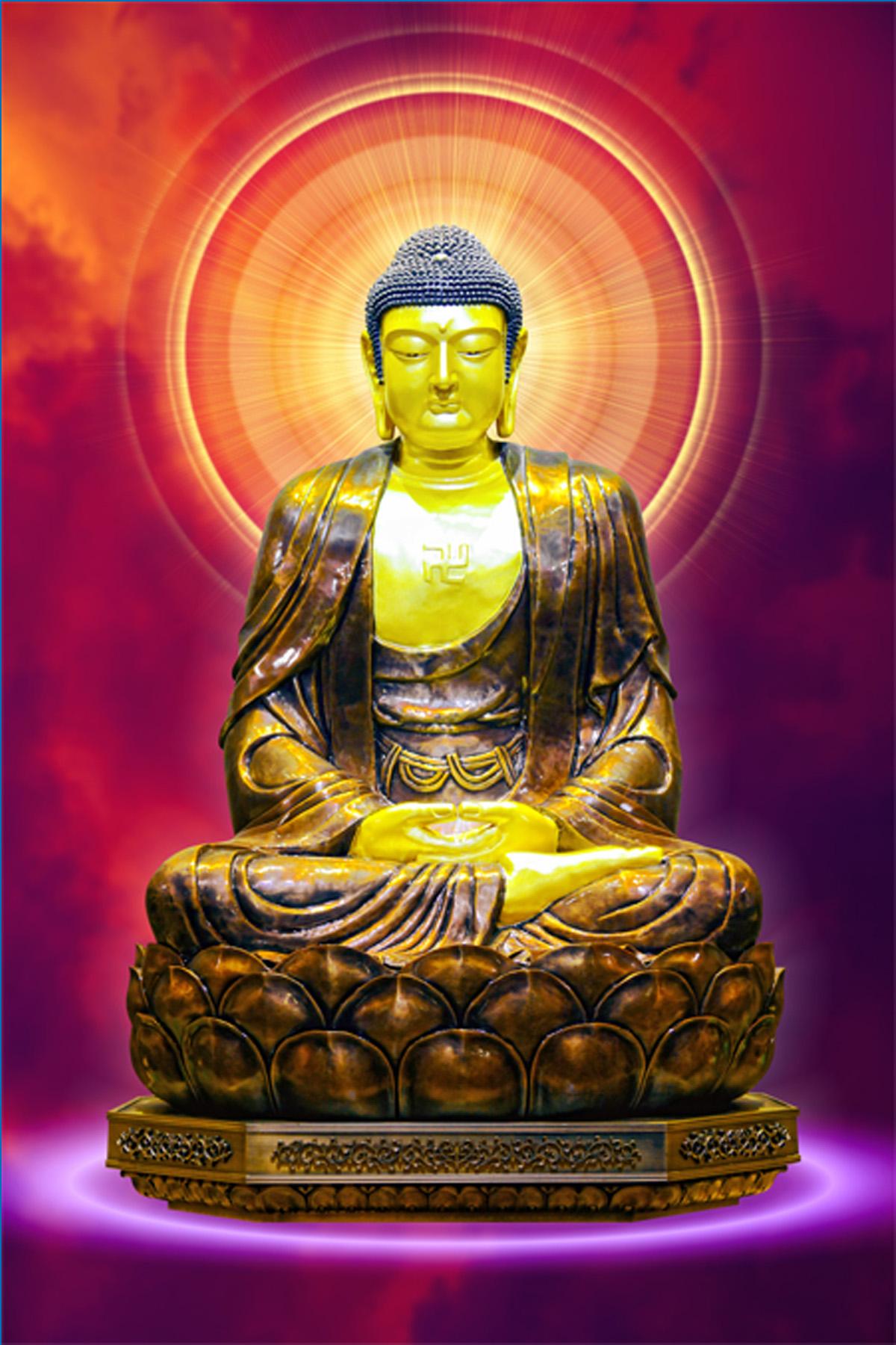 Tôn ảnh Tam Thế Phật chất lượng cao