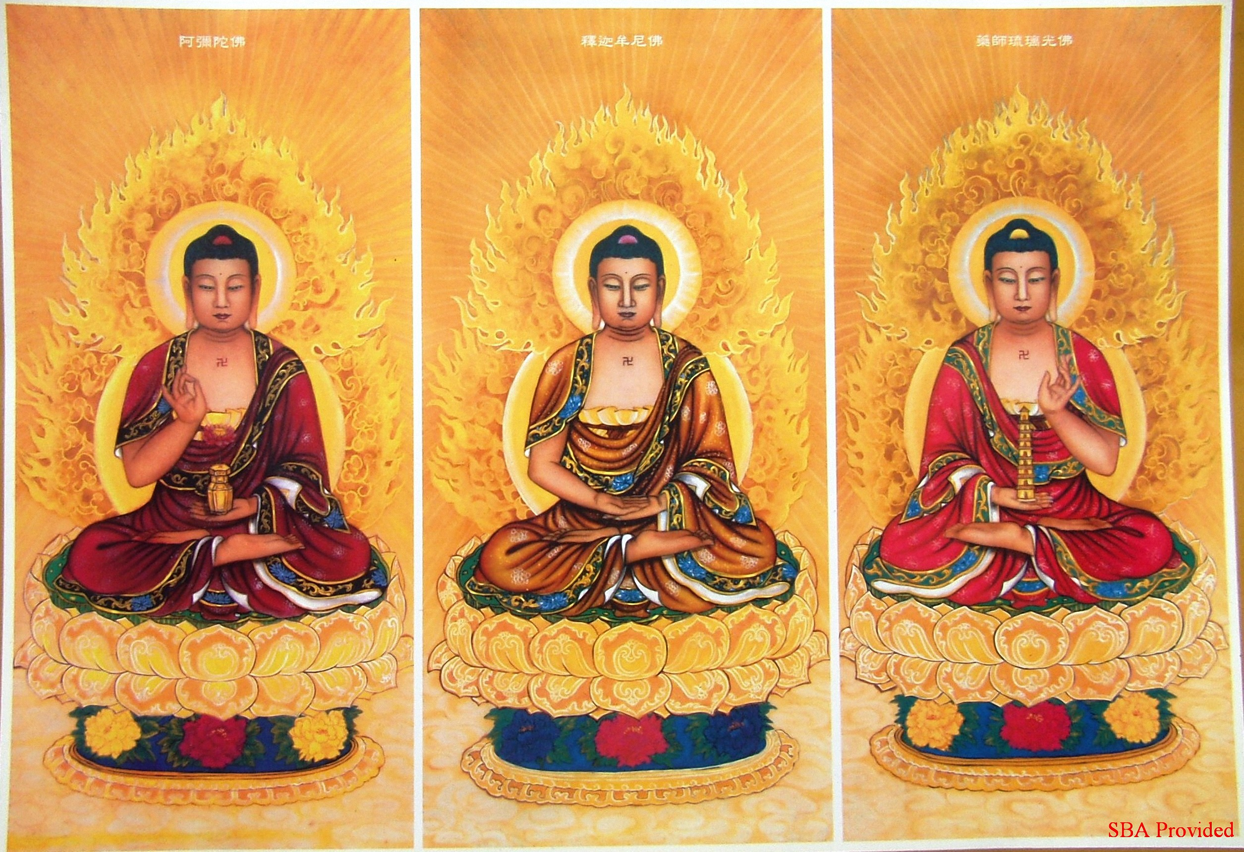 Tam Thế Phật – The Three Noble Buddha (Buddhas of the three generations: past, present and future) – 三世佛