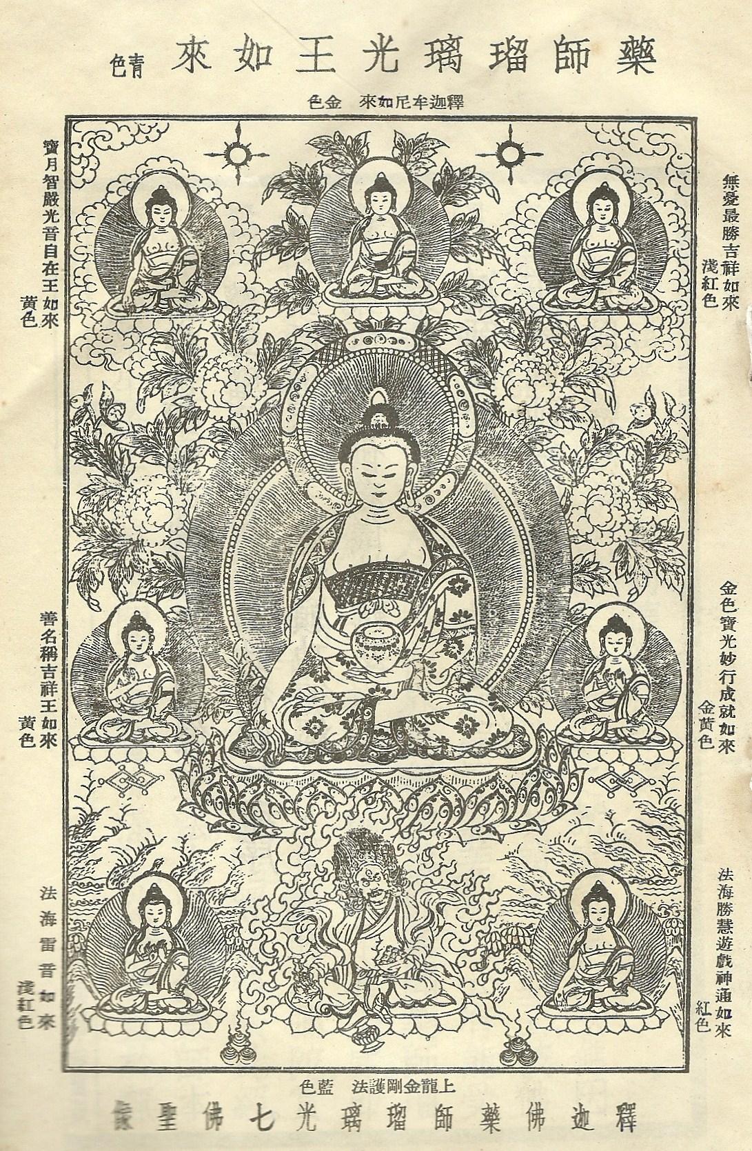 Tôn ảnh Bảy Đức Phật Dược Sư