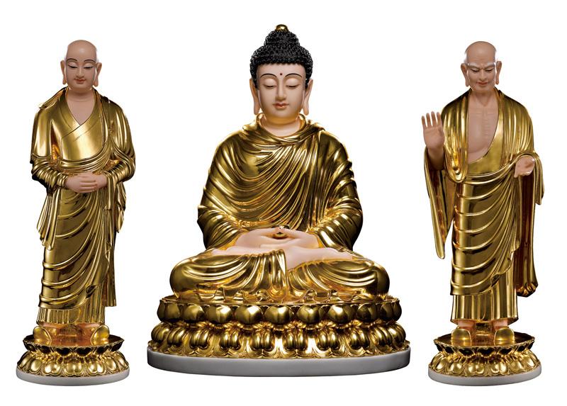 Tôn ảnh Phật Thích Ca và nhị vị tôn giả A-nan Ca-diếp