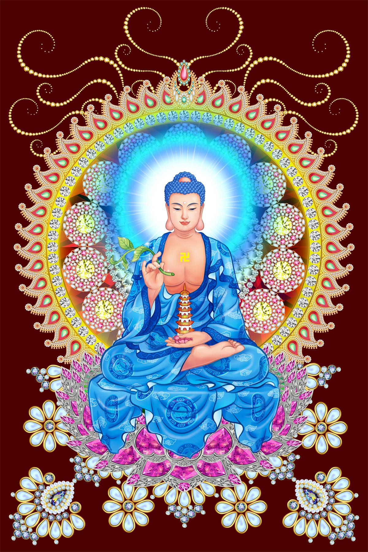 Tôn ảnh chất lượng cao Phật Dược Sư Lưu Ly Quang