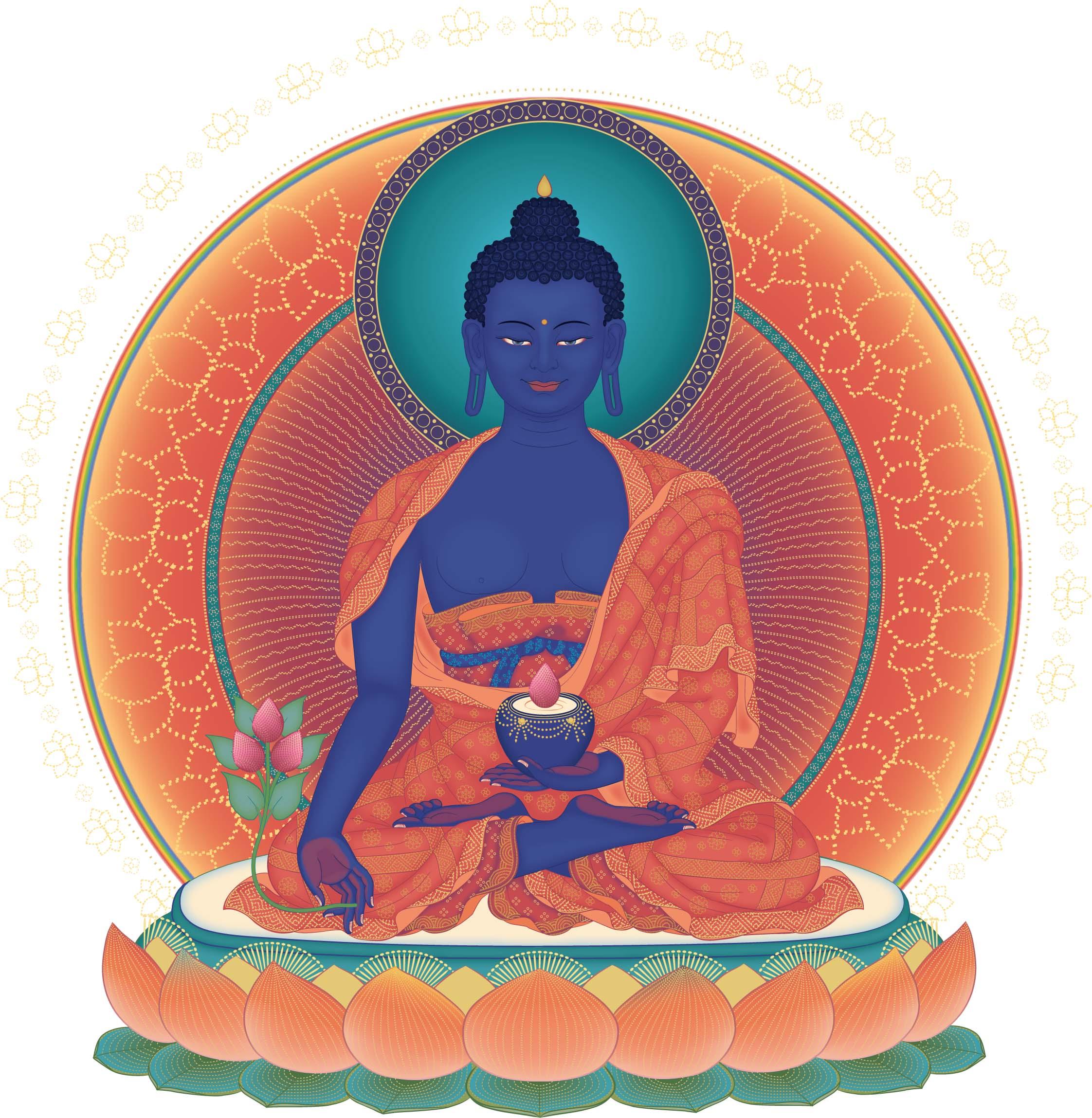 Tôn ảnh Phật Dược Sư Lưu Ly Quang
