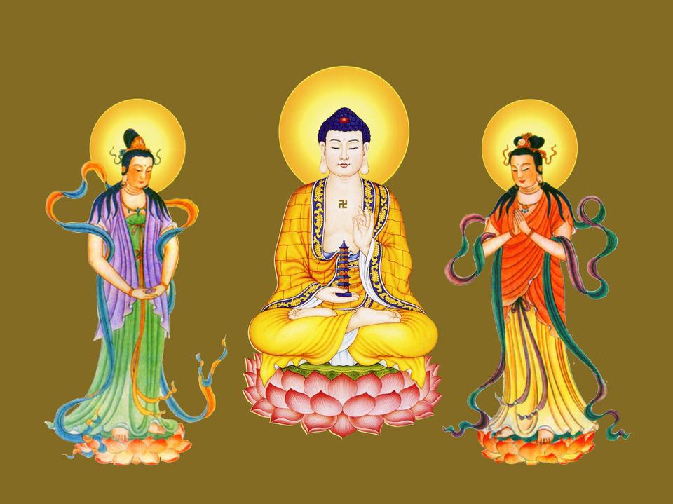 Tôn ảnh Tam Thánh Tịnh Lưu Ly