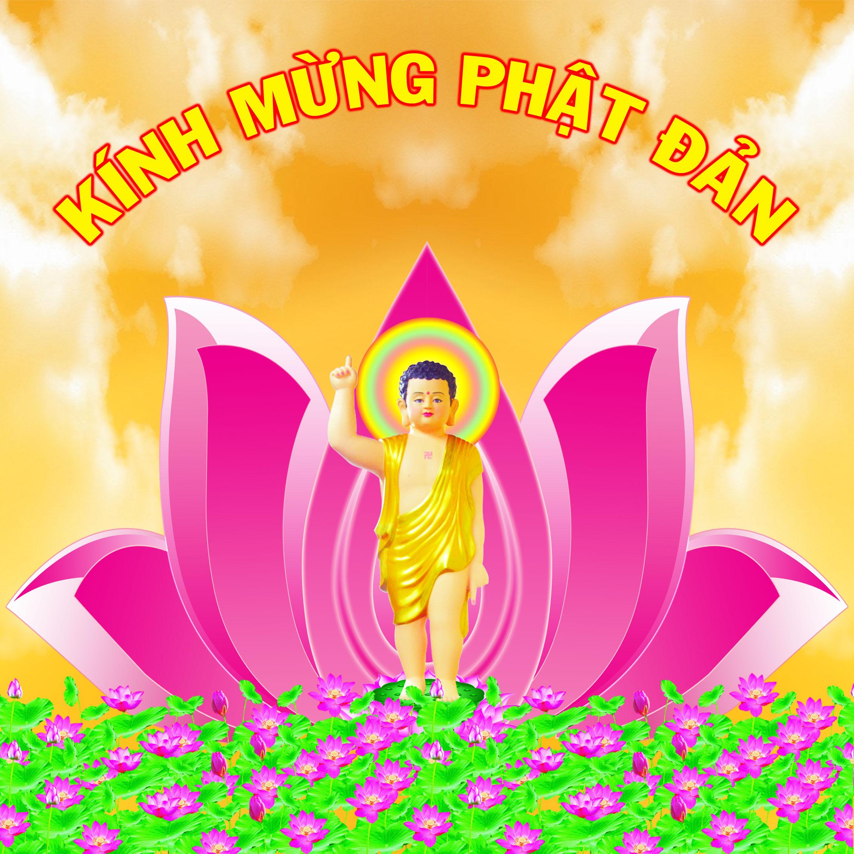 Tôn ảnh Đức Phật Thích Ca đản sanh dùng làm logo cho facebook, twitter và các mạng xã hội – The image of new-born statue of Gautama Buddha for Social logo