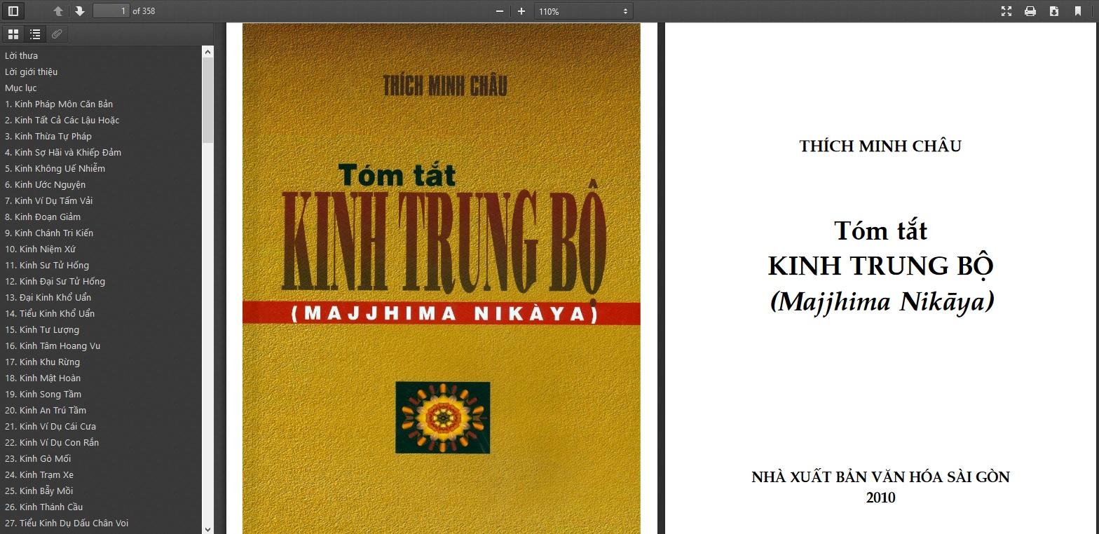 [ebook] Tóm tắt kinh Trung Bộ – HT Thích Minh Châu